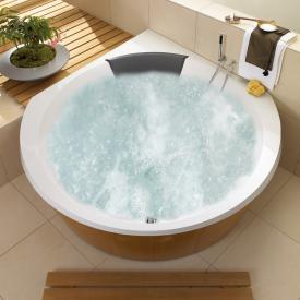 Villeroy & Boch Luxxus Eck Badewanne mit Whirlpoolsystem, Technikposition 1 weiß mit AirPool Entry