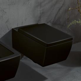Villeroy & Boch Memento 2.0 Wand-Tiefspül-WC, spülrandlos ebony, mit CeramicPlus