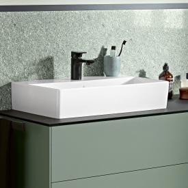 Villeroy & Boch Memento 2.0 Waschtisch weiß, mit CeramicPlus, mit 1 Hahnloch, ohne Überlauf, geschliffen
