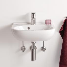 Villeroy & Boch O.novo Handwaschbecken Compact weiß, mit CeramicPlus, mit 1 Hahnloch, mit Überlauf