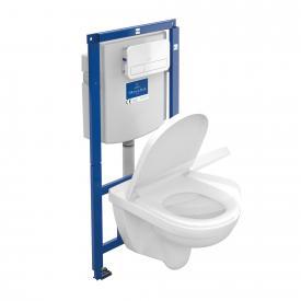 Villeroy & Boch O.novo Wand-Tiefspül-WC offener Spülrand, WC-Sitz, Combi-Pack ViConnect Drückerplatte weiß