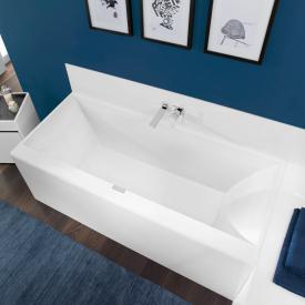 Villeroy & Boch Squaro Edge 12 Rechteck-Badewanne, Einbau weiß