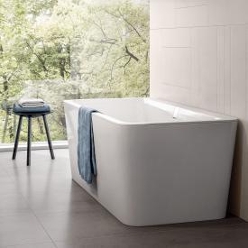 Villeroy & Boch Squaro Excellence Duo Freistehende Rechteck-Badewanne starwhite mit integriertem Wassereinlauf