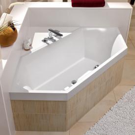 Villeroy & Boch Squaro Slim Line Sechseck-Badewanne, Einbau weiß