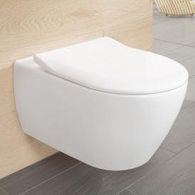 Villeroy & Boch Subway 2.0 Combi-Pack Wand-Tiefspül-WC, offener Spülrand, mit WC-Sitz weiß