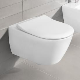Villeroy & Boch Subway 2.0 Combi-Pack Wand-Tiefspül-WC, offener Spülrand, mit WC-Sitz weiß, mit CeramicPlus