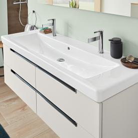Villeroy & Boch Subway 2.0 Doppel-Möbelwaschtisch weiß mit CeramicPlus mit 2 Hahnlöchern