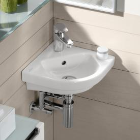 Villeroy & Boch Subway 2.0 Eck-Handwaschbecken weiß mit CeramicPlus, mit Überlauf