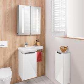 Villeroy & Boch Subway 2.0 Handwaschbecken mit Waschtischunterschrank und My View 14 Spiegelschrank
