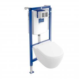 Villeroy & Boch Subway 2.0 & ViConnect NEU Komplett-Set Wand-Tiefspül-WC Compact, offener Spülrand, mit WC-Sitz weiß