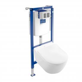 Villeroy & Boch Subway 2.0 & ViConnect NEU Komplett-Set Wand-Tiefspül-WC ohne Spülrand, weiß, mit CeramicPlus