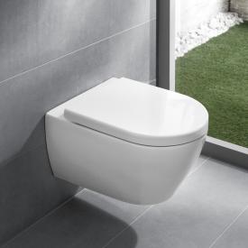 Villeroy & Boch Subway 2.0 Wand-Tiefspül-WC offener Spülrand, DirectFlush, mit WC-Sitz weiß, mit CeramicPlus und AntiBac