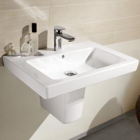 Villeroy & Boch Subway 2.0 Waschtisch weiß mit CeramicPlus mit 1 Hahnloch