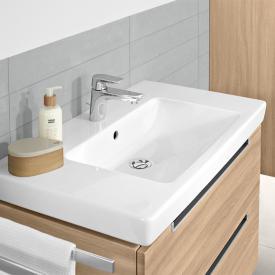 Villeroy & Boch Subway 2.0 Waschtisch weiß, mit CeramicPlus mit 1 Hahnloch, ungeschliffen, mit Überlauf