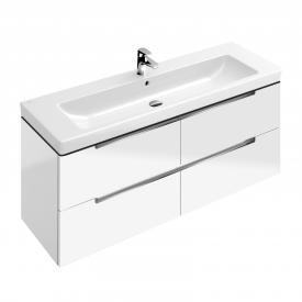 Villeroy & Boch Subway 2.0 Waschtischunterschrank XL mit 4 Auszügen Front glossy white / Korpus glossy white, Griff chrom