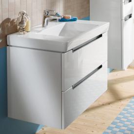 Villeroy & Boch Subway 2.0 Waschtischunterschrank XL mit 2 Auszügen Front glossy white / Korpus glossy white, Griff chrom