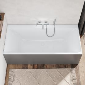 Villeroy & Boch Subway 3.0 Rechteck-Badewanne mit SilentFlow, Einbau weiß, Überlauf weiß