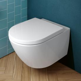Villeroy & Boch Subway 3.0 Wand-Tiefspül-WC TwistFlush, mit WC-Sitz weiß, mit CeramicPlus, WC-Sitz mit Absenkautomatik & abnehmbar