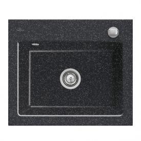 Villeroy & Boch Subway 60 S Flat Spüle chromit glanz/Position Hahnlöcher 2 und 4