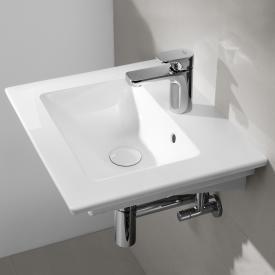 Villeroy & Boch Venticello Handwaschbecken weiß mit CeramicPlus, mit 1 Hahnloch