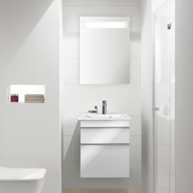 Villeroy & Boch Venticello Handwaschbecken mit Waschtischunterschrank und More to See 14 Spiegel