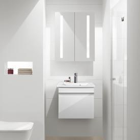 Villeroy & Boch Venticello Handwaschbecken mit Waschtischunterschrank und My View 14 Spiegelschrank