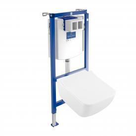 Villeroy & Boch Venticello & ViConnect NEU Komplett-Set Wand-Tiefspül-WC, offener Spülrand, mit WC-Sitz weiß, mit CeramicPlus