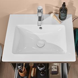 Villeroy & Boch Venticello Waschtisch weiß mit CeramicPlus mit 1 Hahnloch durchgestochen
