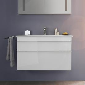 Villeroy & Boch Venticello Waschtisch mit Waschtischunterschrank mit 2 Auszügen weiß, mit CeramicPlus, mit 1 Hahnloch, ohne Überlauf