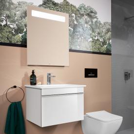 Villeroy & Boch Venticello Waschtisch mit Waschtischunterschrank und More to See 14 Spiegel Front glossy white/verspiegelt / Korpus glossy white/aluminium matt