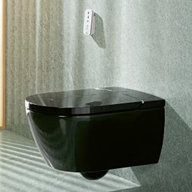 Villeroy & Boch ViClean I100 Dusch-WC, offener Spülrand, DirectFlush, mit WC-Sitz glossy black