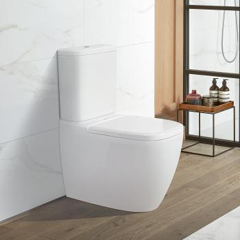 Villeroy & Boch Antheus Stand-Tiefspül-WC für Kombination, spülrandlos weiß, mit CeramicPlus