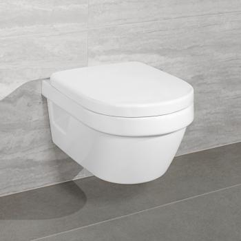 Villeroy & Boch Architectura Compact Combi-Pack Wand-Tiefspül-WC, offener Sp. L:48 B:35 cm weiß mit CeramicPlus