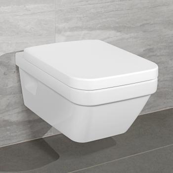 Villeroy & Boch Architectura Wand-Tiefspül-WC L:53 B:37 cm, offener Spülrand weiß, mit CeramicPlus