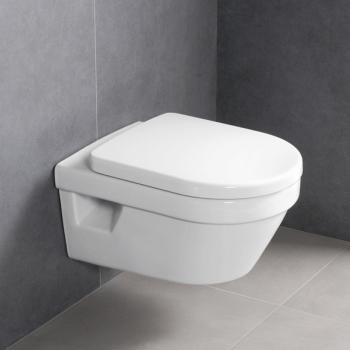 Villeroy & Boch Architectura Wand-Tiefspül-WC offener Spülrand, WC-Sitz weiß mit CeramicPlus