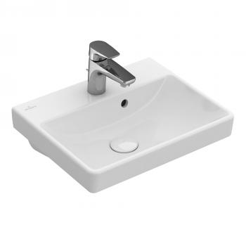 Villeroy & Boch Avento Handwaschbecken weiß, mit CeramicPlus, mit Überlauf