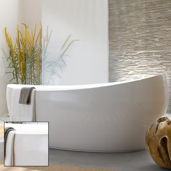 Villeroy & Boch Aveo New Generation freistehende Badewanne weiß, mit Ab- und Überlauf