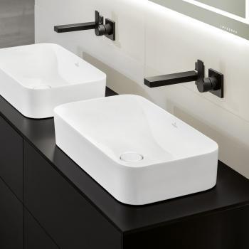 Villeroy & Boch Finion Aufsatzwaschtisch weiß, mit CeramicPlus, ohne Überlauf