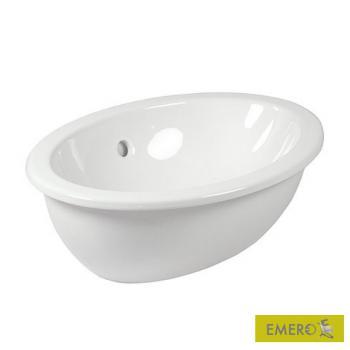 Villeroy & Boch Loop & Friends Einbauwaschtisch, oval weiß, mit CeramicPlus mit Überlauf