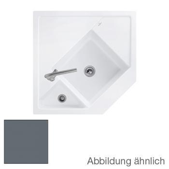 Villeroy & Boch Monumentum Spüle Handbetätigung Breite links 89,6, rechts 89,6 cm graphit/Position Lochbohrung 1