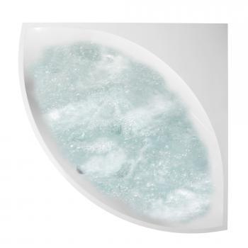 Villeroy & Boch Squaro Slim Line Eck-Badewanne mit Whirlpoolsystem, Technikposition 2 weiß, mit AirPool Entry