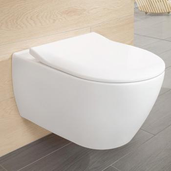 Villeroy & Boch Subway 2.0 Combi-Pack Wand-Tiefspül-WC, offener Spülrand weiß, mit CeramicPlus