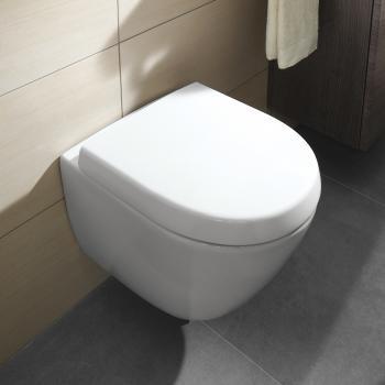 Villeroy & Boch Subway 2.0 Wand-Tiefspül-WC Compact offener Spülrand weiß mit CeramicPlus