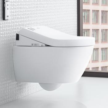 Villeroy & Boch Subway 2.0 Wand-Tiefspül-WC DirectFlush mit ViClean-U+ WC-Sitz Combi-Pack weiß mit CeramicPlus