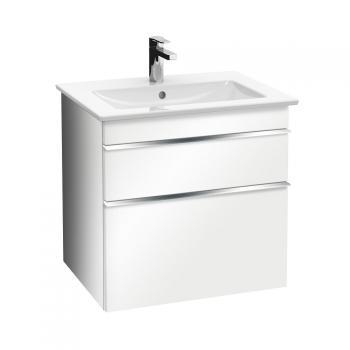 Villeroy & Boch Venticello Waschtischunterschrank XXL mit 2 Auszügen Front glossy white / Korpus glossy white, Griff chrom