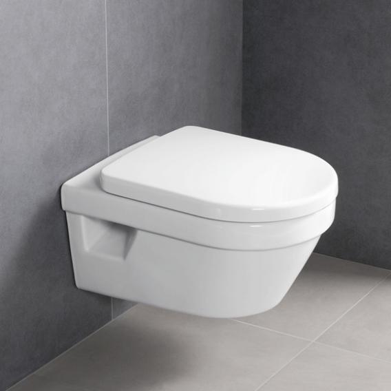 Villeroy & Boch Architectura Wand-Tiefspül-WC, WC-Sitz ohne Spülrand, weiß, mit CeramicPlus