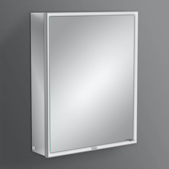 Villeroy & Boch My View Now Aufputz-Spiegelschrank mit LED-Beleuchtung mit 1 Tür Anschlag links,  mit Sensordimmer