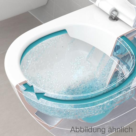 Villeroy & Boch O.novo Combi-Pack Wand-Tiefspül-WC ohne Spülrand, weiß, mit CeramicPlus