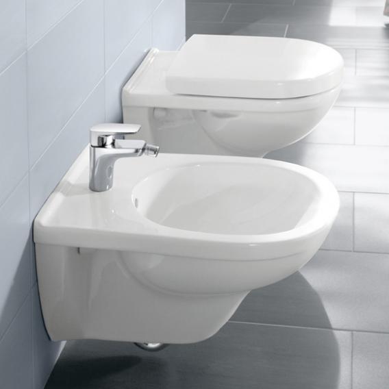 Villeroy & Boch O.novo Wand-Bidet weiß, mit CeramicPlus