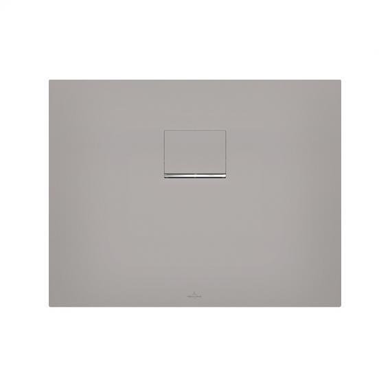 Villeroy & Boch Squaro Infinity Duschwanne für universal Einbau, lange Seite geschnitten grau matt